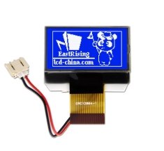 1.4 inch 128x64 Serial Graphic LCD Display Module ST7565R White on Blue ERC12864SBS-1